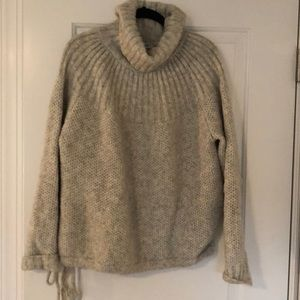 Madewell Gray Wool Turtleneck Sweater- Sz L